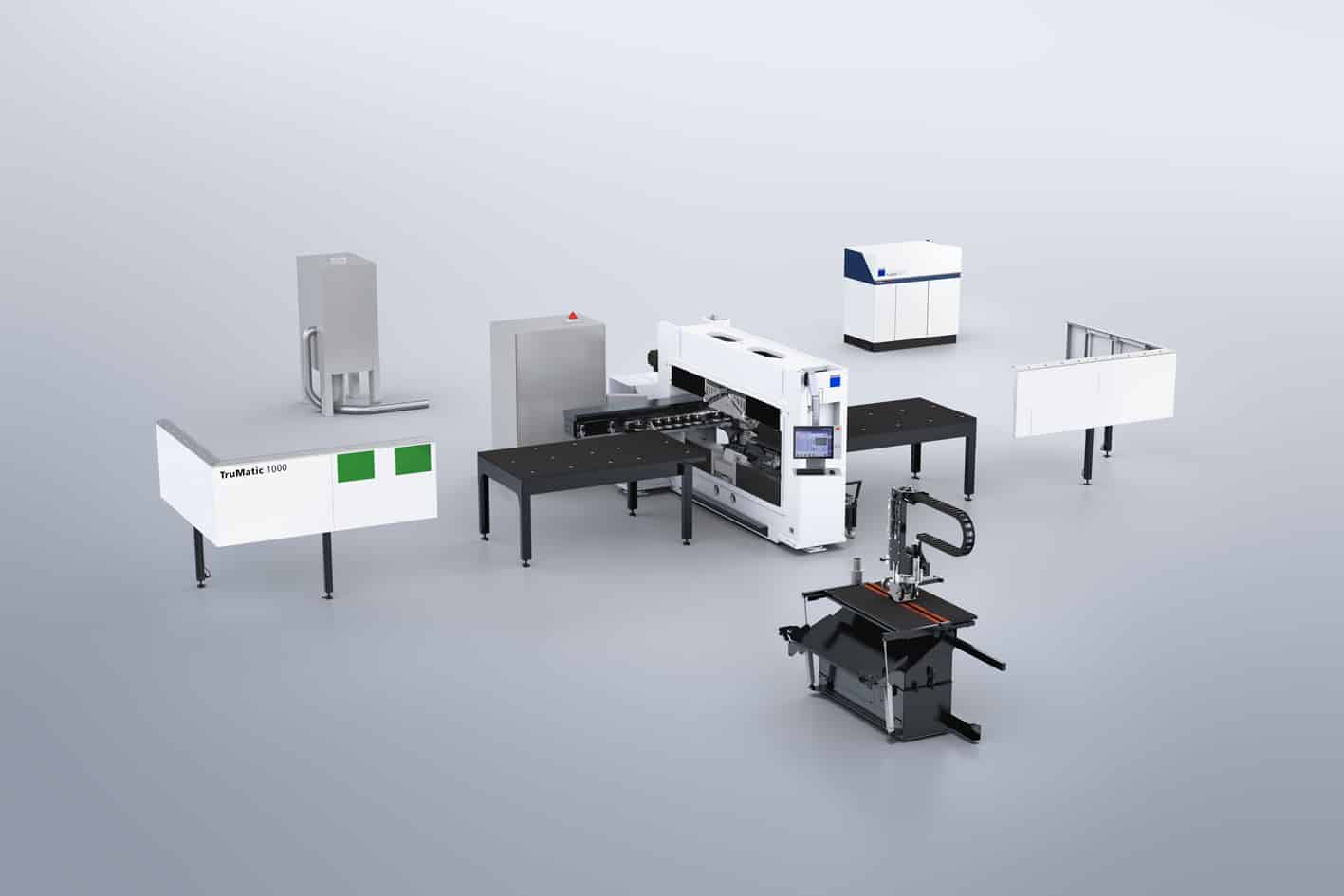 Innovatives Lasersystem Trumpf, Stanzmaschine