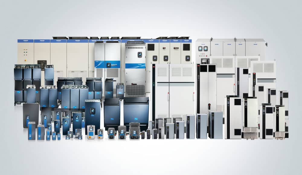 Die Danfoss Produktfamilie - Danfoss zeigt sich cross-divisional - 4 Säulen (Drives, Heating, Cooling, Power Solution)