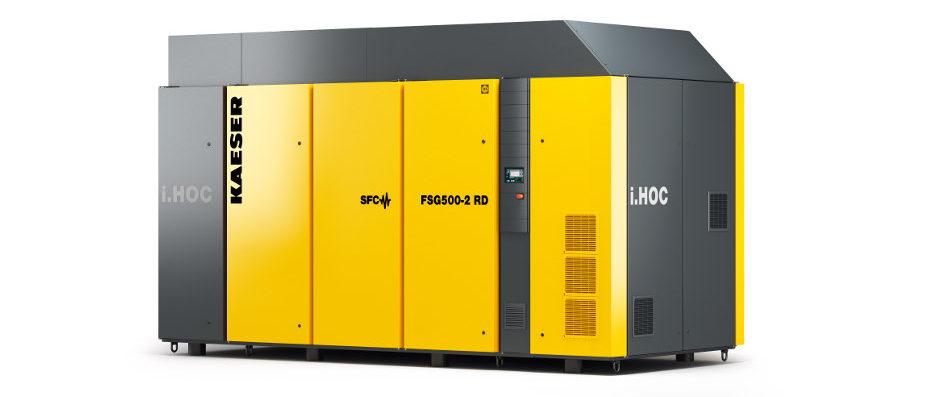 Ölfrei verdichtete Druckluft und stabile Drucktaupunkte bis -30 Grad Celsius liefert der Schraubenkompressor FSG mit dem integrierten Rotationstrockner i.HOC.