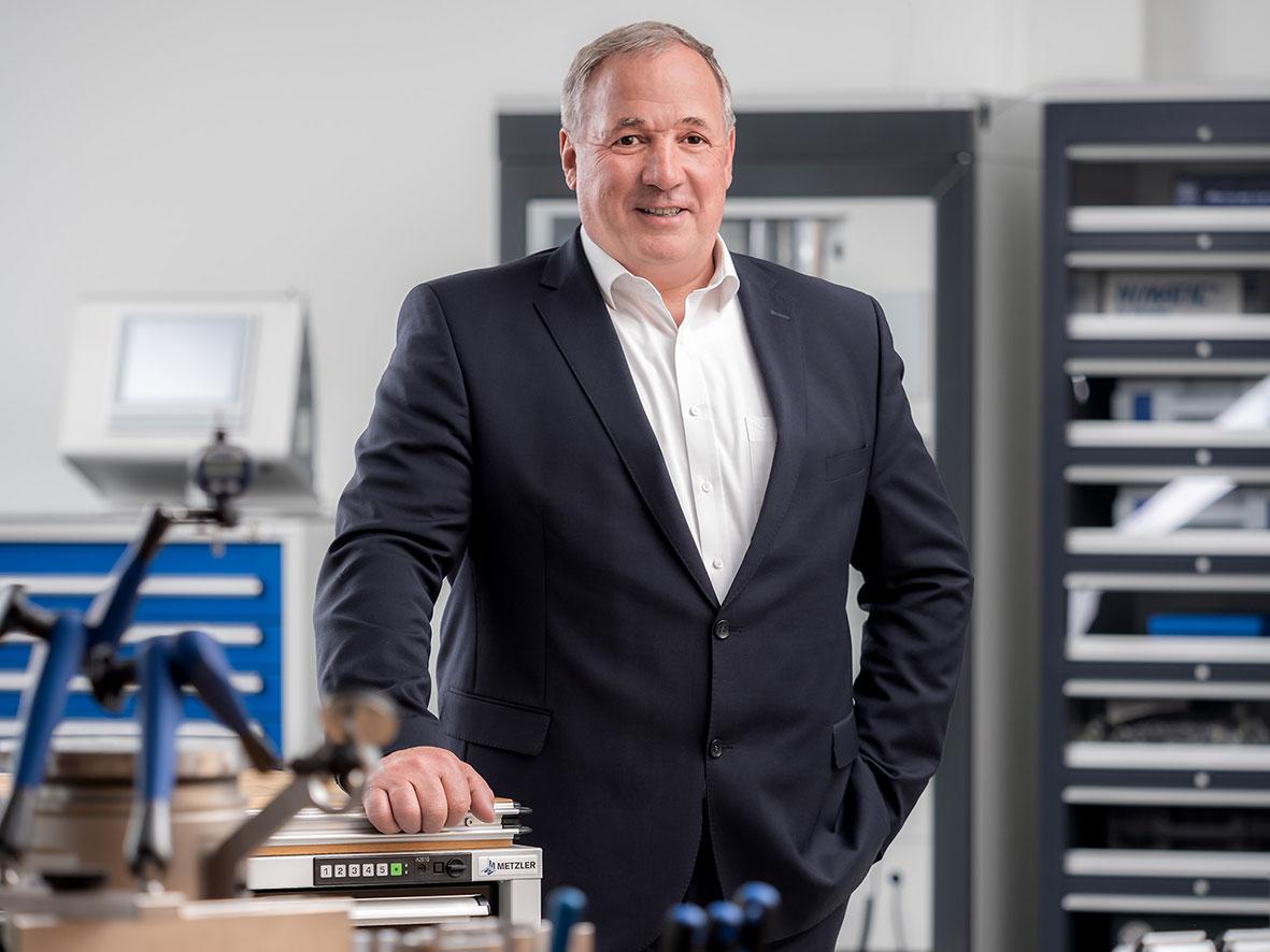 """""""Im Bereich unserer hochqualitativen Mess- und Prüfmittel verzeichnen wir derzeit eine erhöhte Marktnachfrage"""", sagt Reinhard Metzler."""