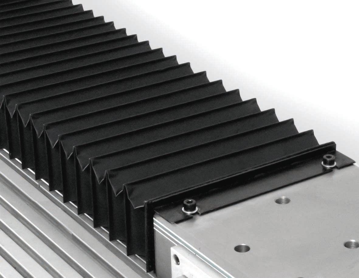 HEMA fertigt seit mehr als 40 Jahren Faltenbälge aus hochwertigen Spezialgeweben. Die Schutzsysteme werden für jede Anwendung individuell konzipiert.   Bild: HEMA