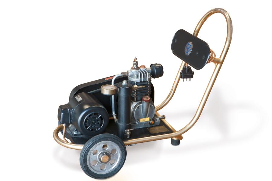 Der erste Kaeser Kolbenkompressor aus dem Jahr 1948.