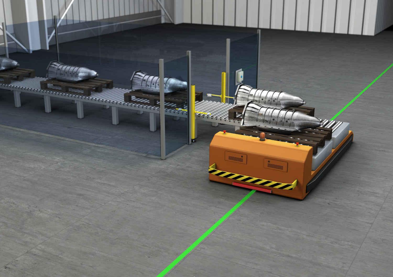 Werkstücktransport in der Produktion | Bild: Leuze