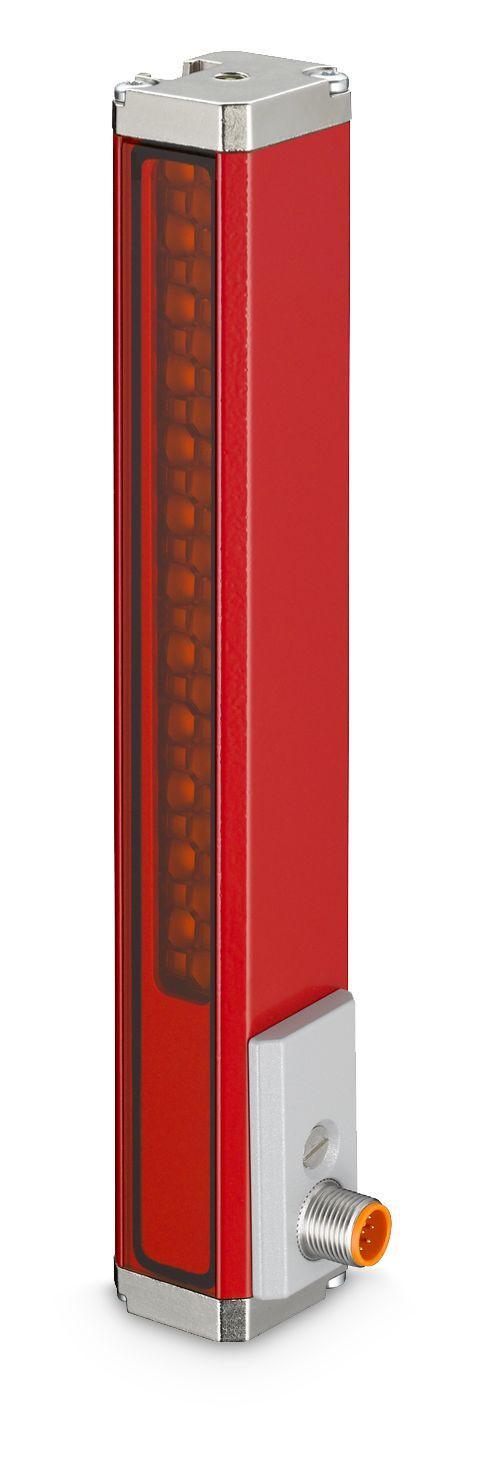 Dieser Sensor (OGS 600) ermöglicht eine flexible, optische Spurführung.