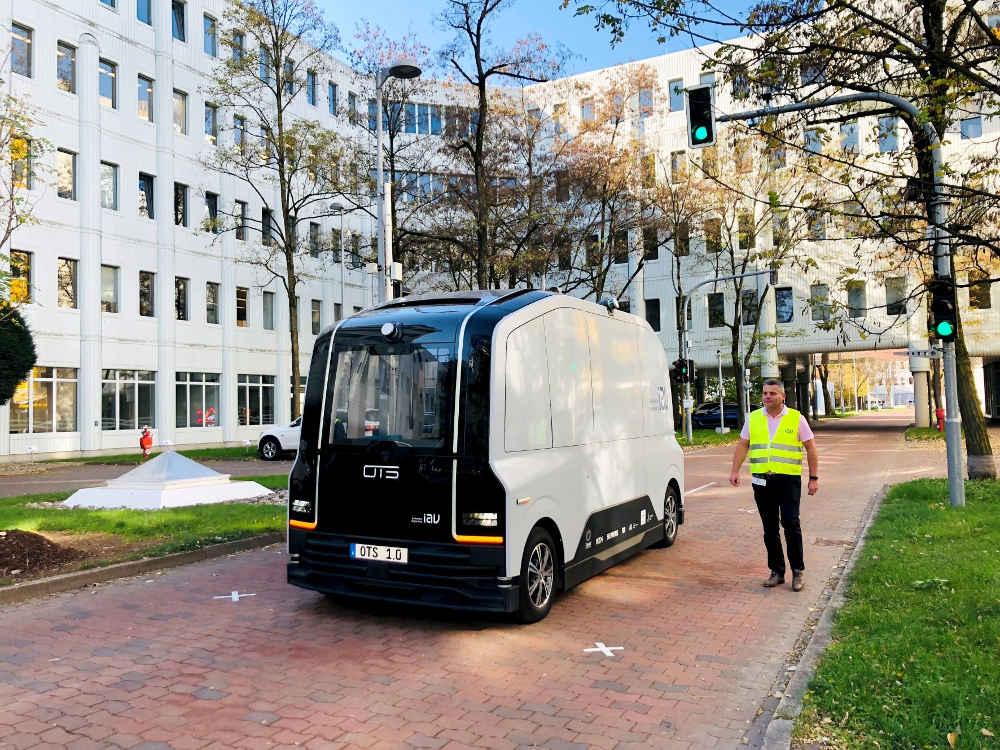 Autonomes Fahren am Siemens-Campus in München-Perlach