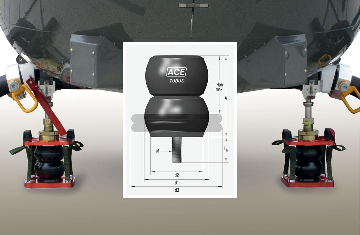 Teil der Dämpfungssysteme sind dafür maßgeschneiderte ACE TUBUS Sicherheitsdämpfer