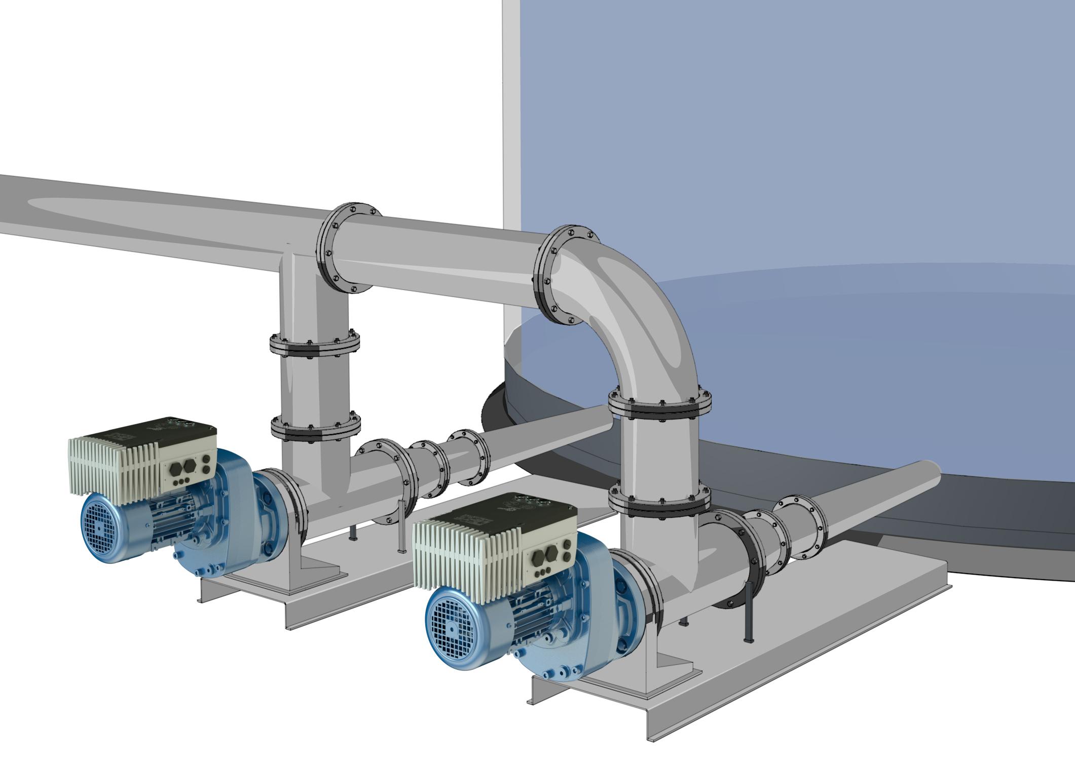Der Frequenzumrichter wird direkt am Motor installiert. Das erlaubt, die Antriebe ohne große Veränderungen innerhalb der Anlage zu integrieren.