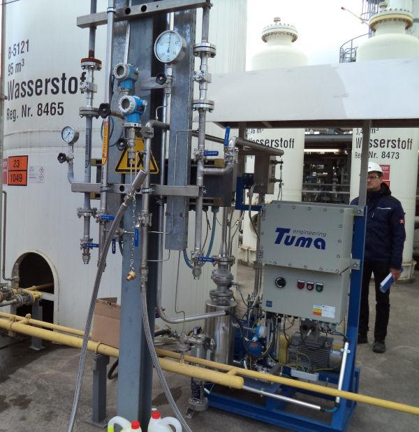 Eine Vakuumanlage für den Prozess der Schwefelsäureherstellung.