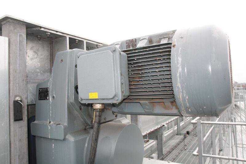 Die Block-Flachgetriebe in ungeschützter Außenaufstellung trotzen am Hafen von Fredericia zuverlässig Wind, Wetter und Möwendreck.