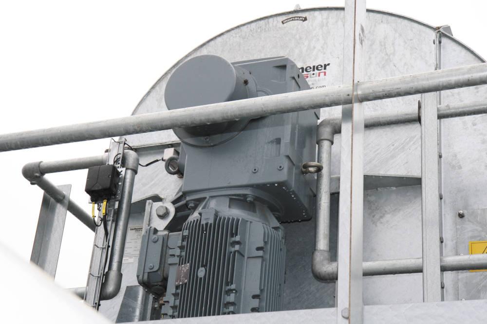 Für die Becherwerke im Getreideterminal ist die optionale Rücklaufsperre der Nord-Getriebemotoren ein unerlässliches Ausstattungsmerkmal.