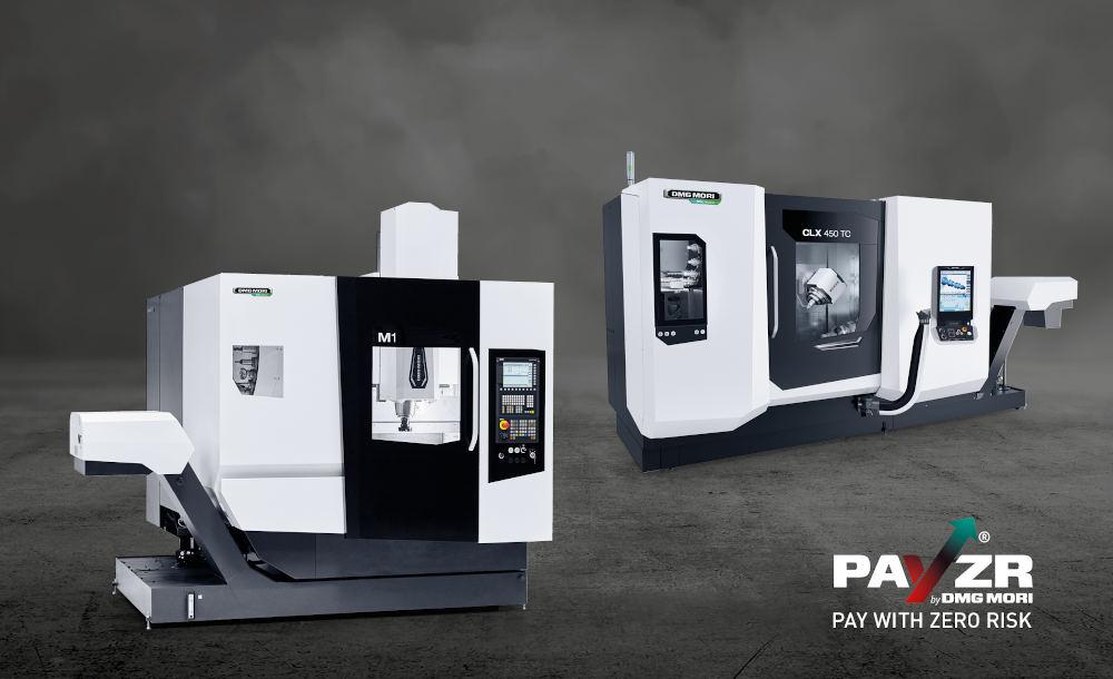 Zur PRE-EMO Show erweitert DMG MORI das PAYZR Portfolio um die ebenfalls dieses Jahr vorgestellte CLX 450 TC, sodass Kunden auch im Dreh-Fräsbereich risikolos produzieren können.