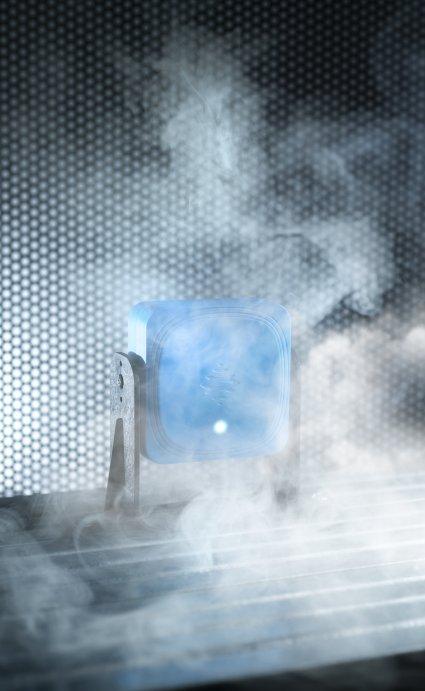 Auch wenn sich Staub, Späne, Rauch, Dampf, Wasser oder Produktionsabfälle in der Umgebung befinden, garantiert das Radar zuverlässiges Erkennen von Personen und Gegenständen