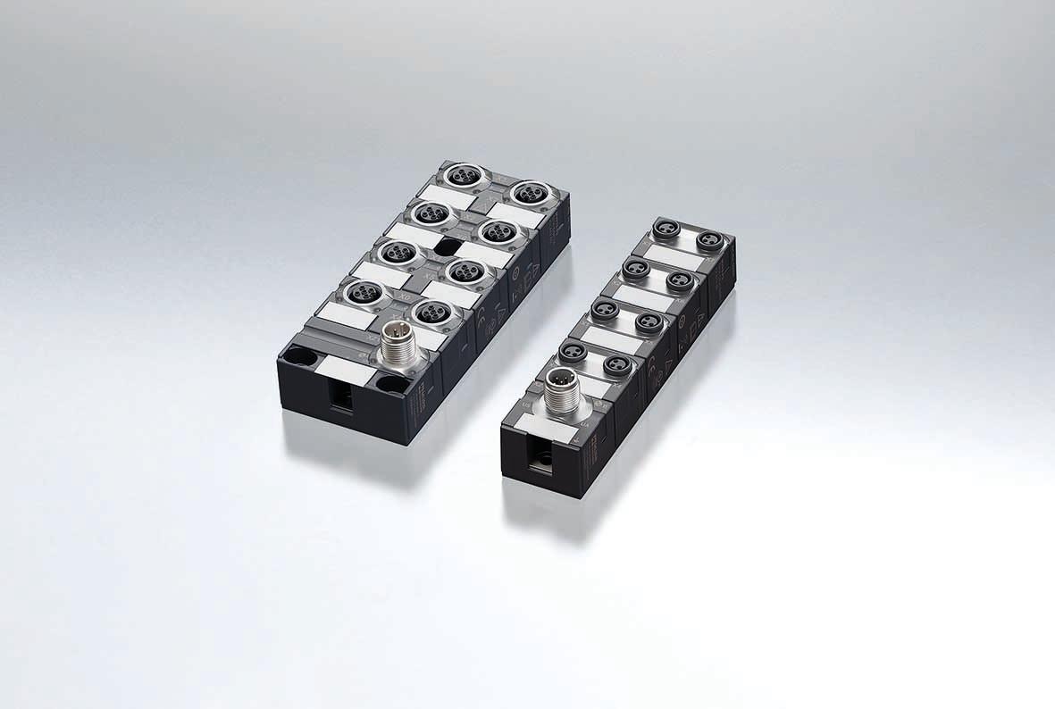 Mit den IO-Link-Hubs und den IO-Link-Analog-Konvertern kann man digitale und analoge Signale unkompliziert mit einer Standard-Sensorleitung am IO-Link-Master-Port anschließen.